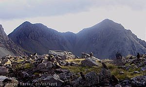 Mottram Peaks by Jeremy Parker from basin under Mt Gizeh