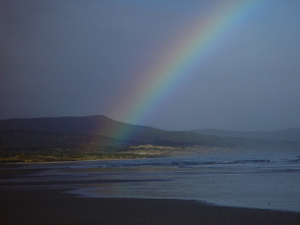 Rainbow over Mason Bay, Stewart Island