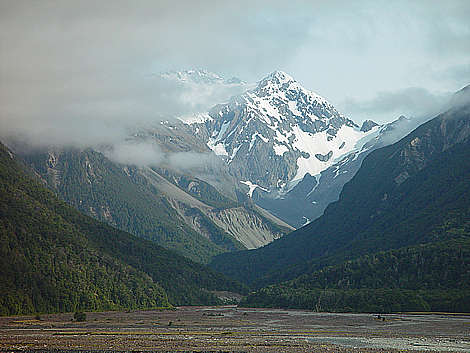 Mt Rolleston from the Waimak valley