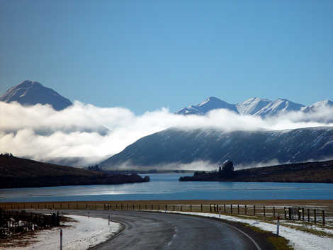 Lake Pearson on the road to Arthurs Pass